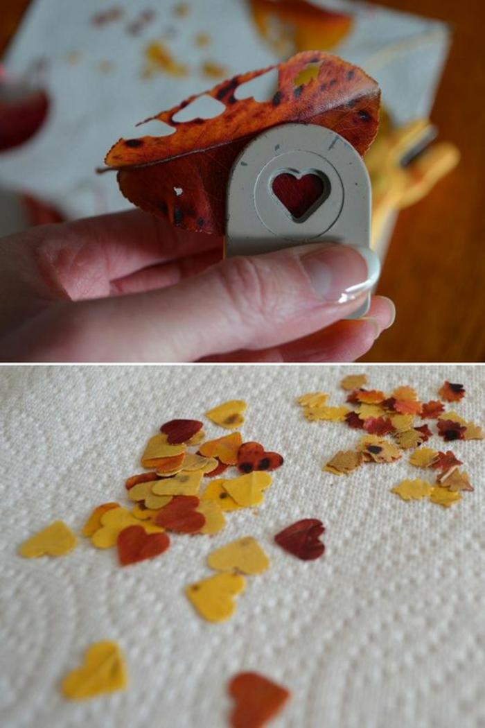 kleine kerzen aus baumblättern machen, küchenpapier, französische maniküre