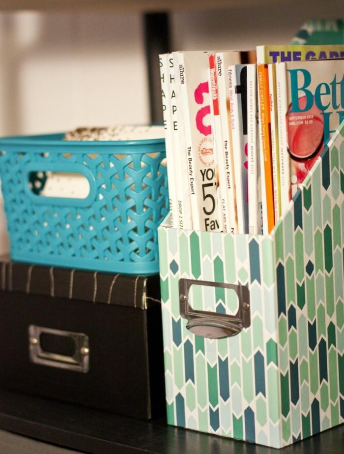 Bastel mit Karton hat viele Anwendungen haben - Ständer für die Zeitschriften