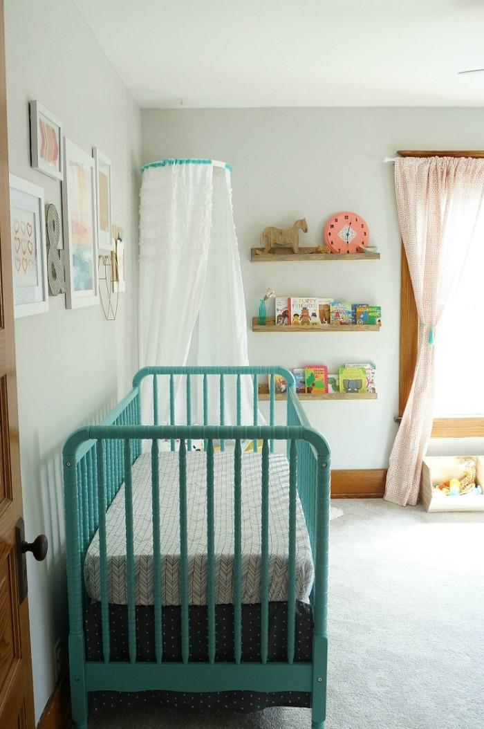 babyzimmer junge, ideen für die beiden geschlechter, blaues babybett, deko ideen