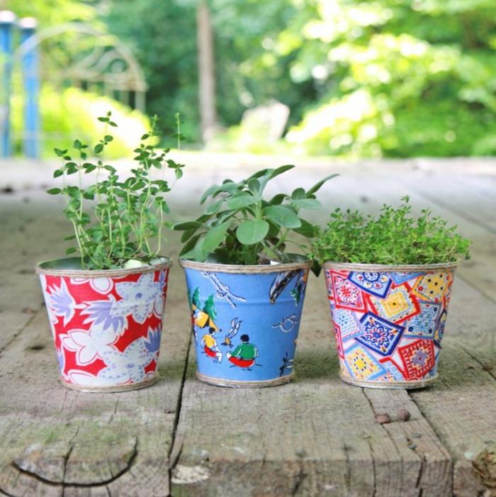blumentöpfe blumentopf basteln bunte design ideen für töpfen verschiedene designs pflanzen topf ideen