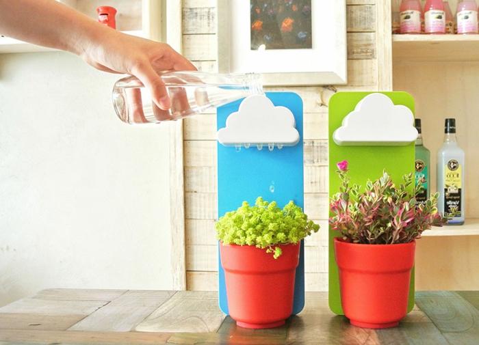 blumentopf selber machen ideen wolken über die pflanzen ständer wolke und blumentopf gestaltungsidee