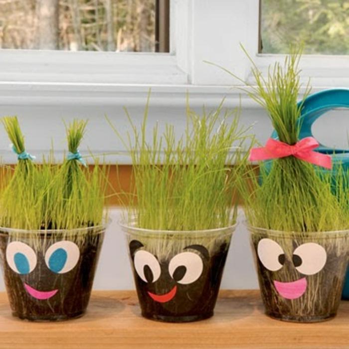 blumentöpfe balkon einzigartige ideen zum gestalten grass anpflanzen grüne ideen deko töpfe frisuren