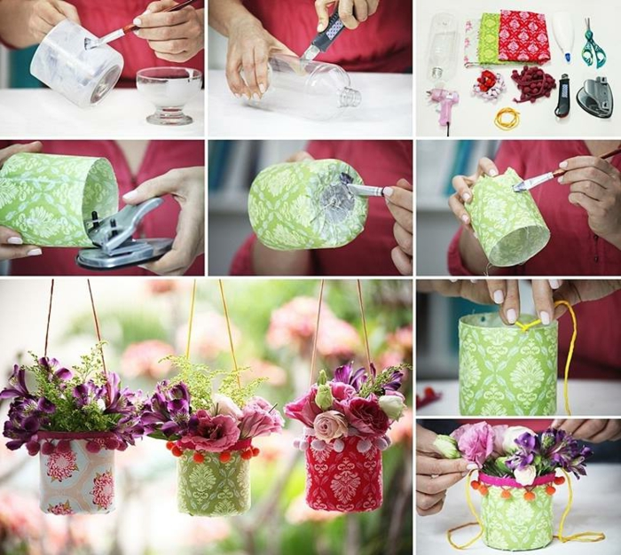 blumentopf keramik kleine dekorative blumentöpfe aus plastik ideen grün weiß rot deko für töpfe blumen