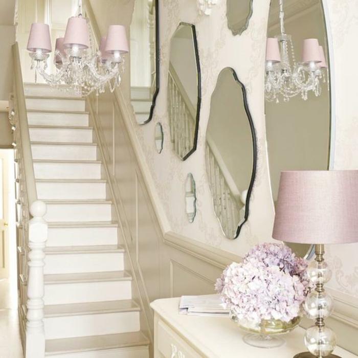 Treppenaufgang dekorieren Ideen Vintage Design