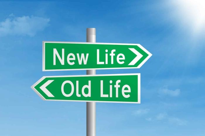 die Richtung zu dem neuen Leben