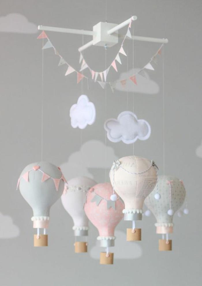 kinderzimmer gestaltung balloons dekoration für das babyzimmer mädchen ideen gestaltung dekoration