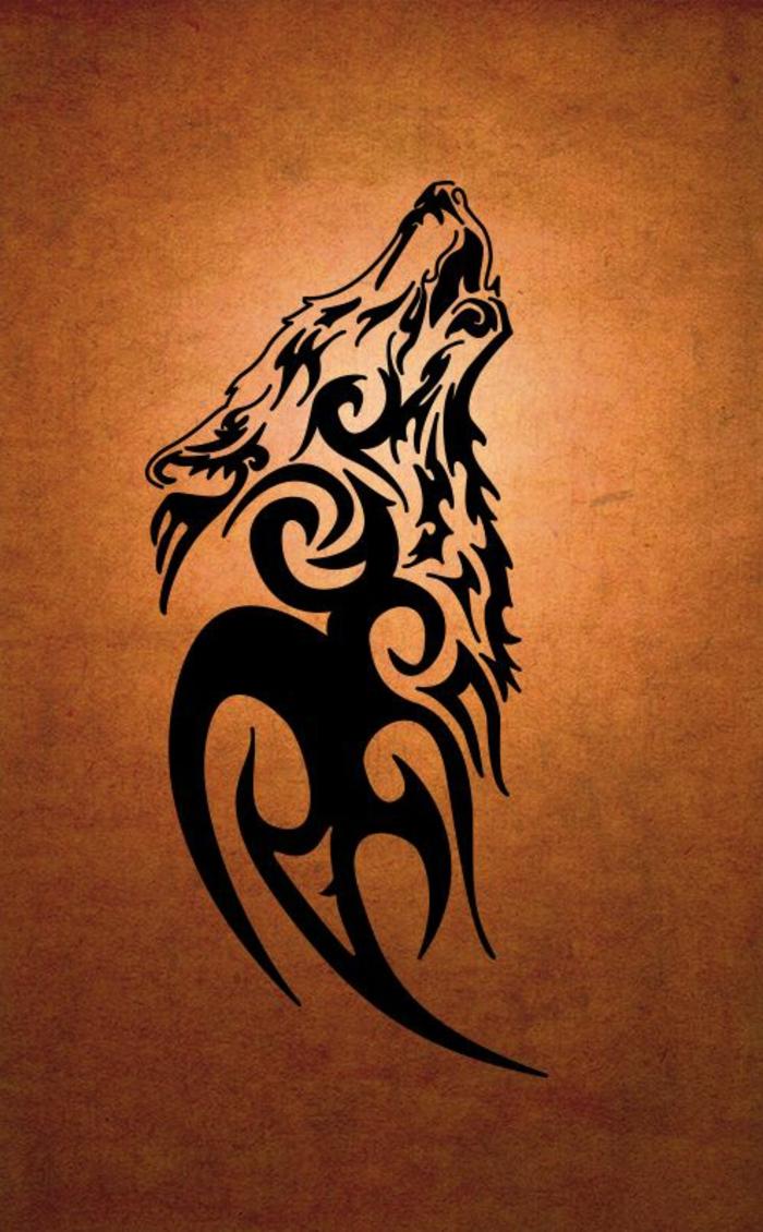 ein schwarzer heulender wolf kann eine tolle idee für einen wolf tattoo sein