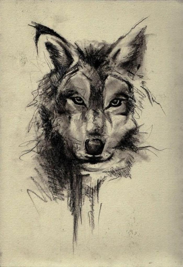 hier zeigen wir ihnen noch eine idee für einen wolf tattoo, die ihnen sehr gut gefallen könnte