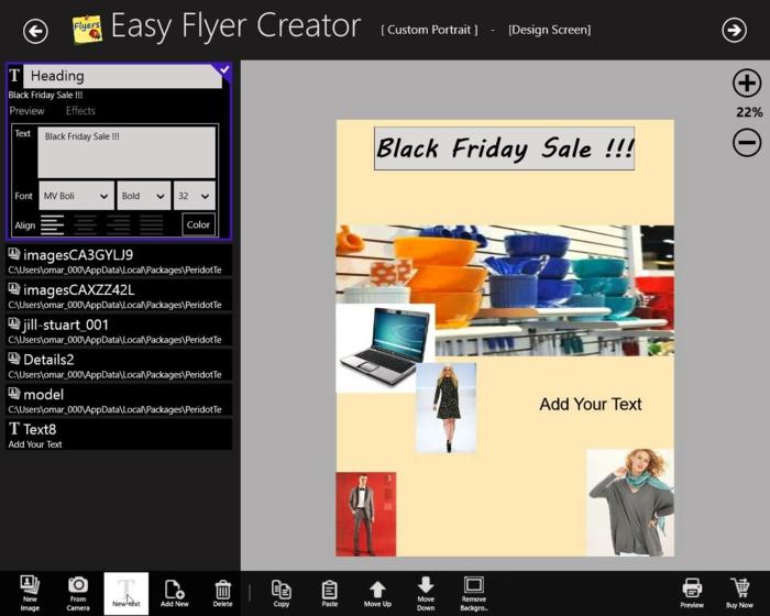 Einfach und schnell Flyer erstellen mit diesem Programm Easy Flyer Creator