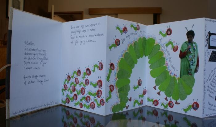 ein Faltbuch selber herstellen für die beliebten Lehrerin Raupe Motive