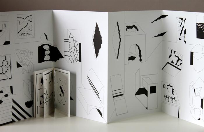 Leporello basteln - abstrakte Figuren die trotzdem eine Geschichte erzählen