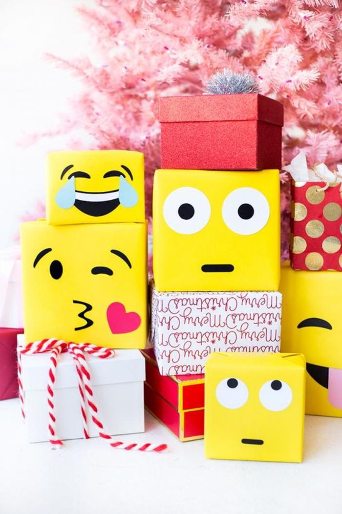 geschenke fuer kollegen, emoticons schachteln, gesichter
