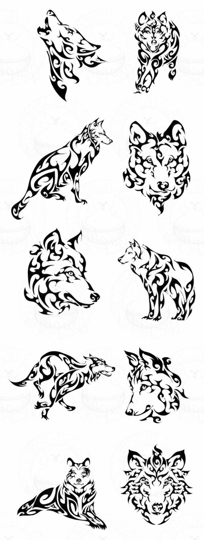 tribal wolf - hier finden sie ganz verschiedene ideen für tolle tribal wolf tattoos