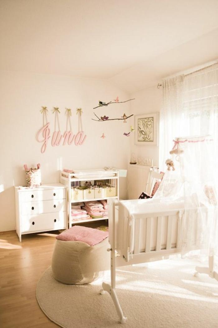 kinderzimmer einrichten ideen in weiß und rosa schrank babybett dekorationen und möbel bild für dekoration