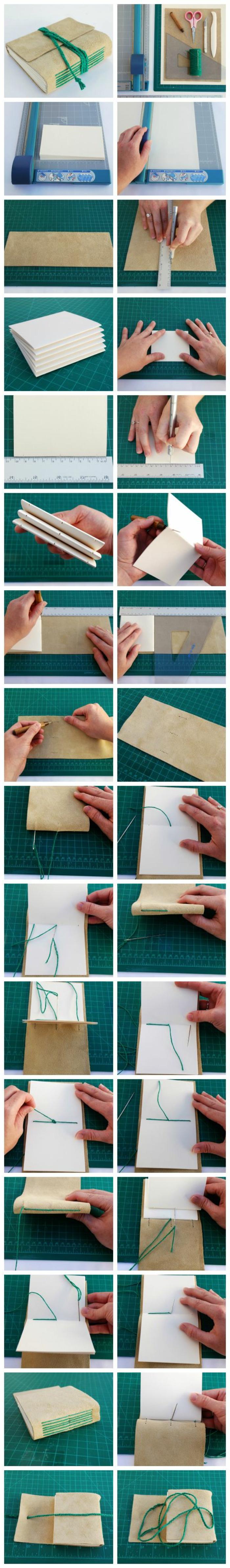 eine ausführliche Anleitung, wie man ein Faltbuch selber herstellt