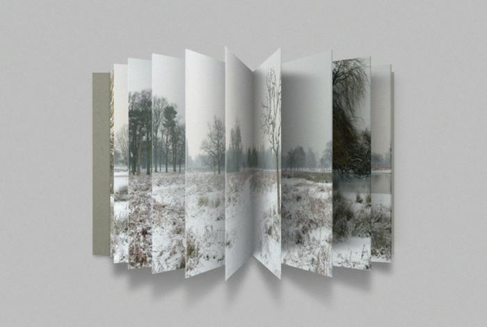 bildschönes gefaltetes Fotos von Landschaft als Leporello selber machen