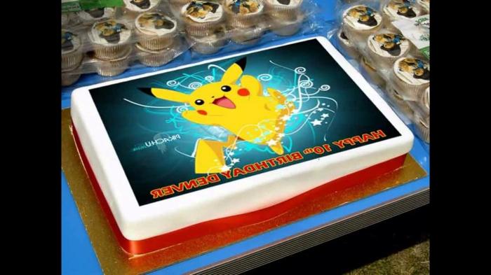 idee für eine schön aussehende pokemon torte - hier ist ein kleines pokemon wesen pikachu