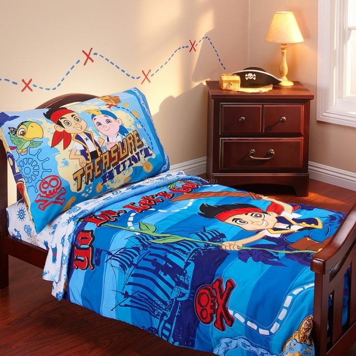 auf der Suche nach Schatz - Kinderzimmerdeko aus einem Zeichentrickfilm Serie