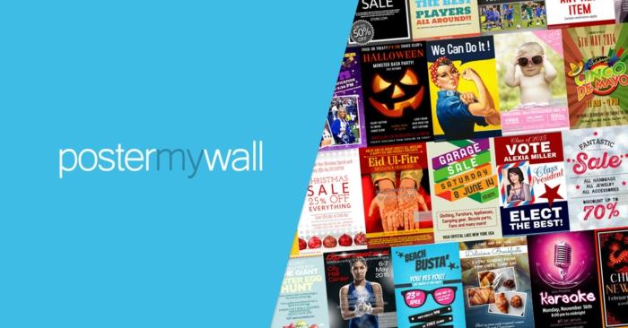 ein Überblick auf PosterMyWall mit seiner großen Galerie