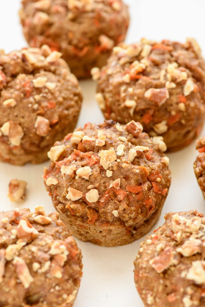 rezepte vegetarisch muffins dekorieren nüsse quinoa honig füllung aus schokolade ideen lecker