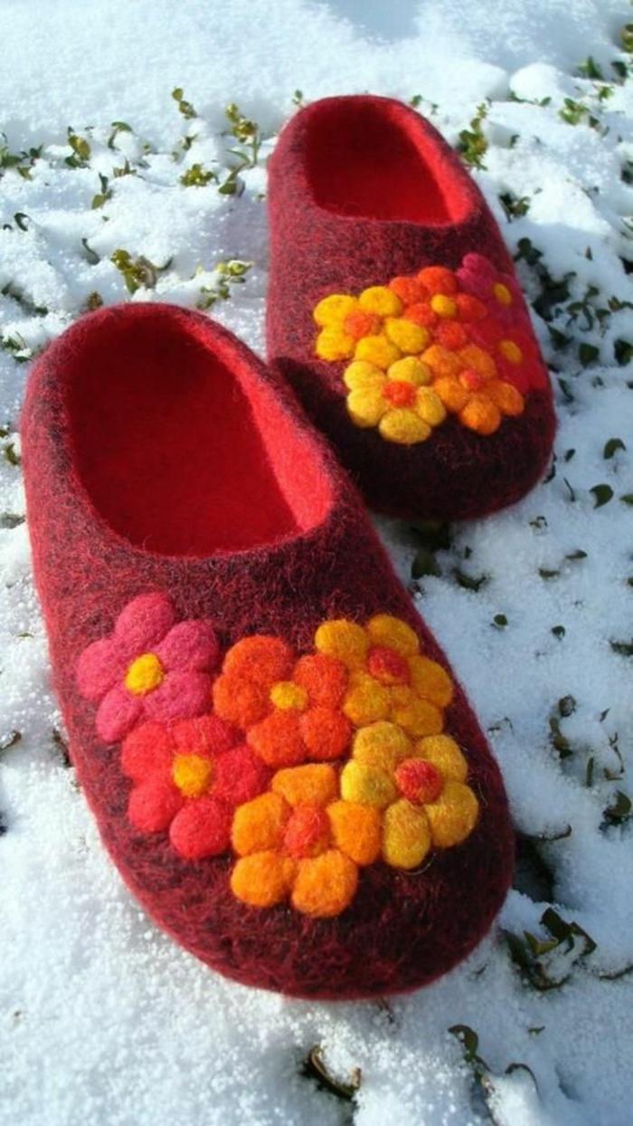 wenn draußen kalt ist, sind Hausschuhe von großer Bedeutung - Schuhe nähen