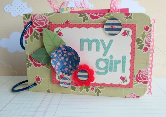 mein Mädchen steht auf diese Karte aus Schuhkarton ausgeschnitten - Basteln mit Kindern