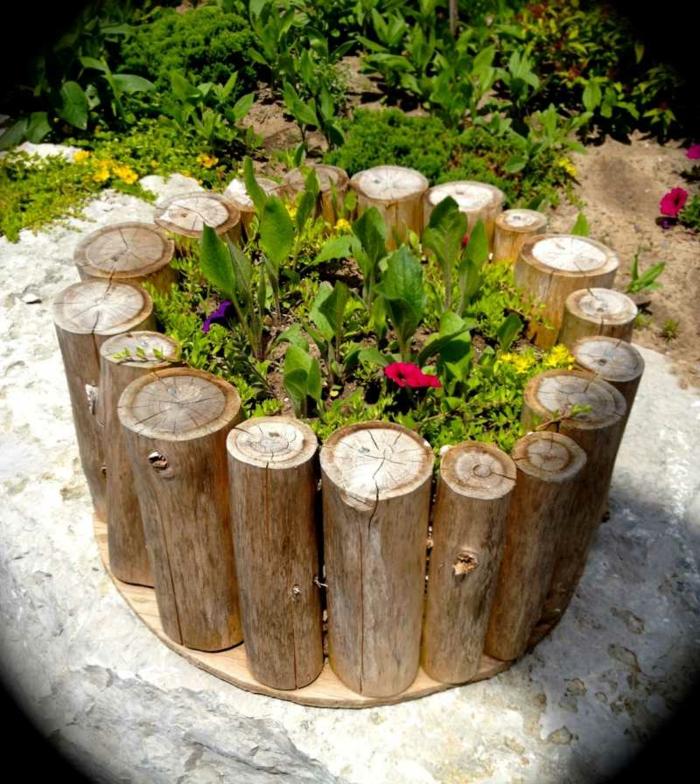 mini blumentöpfe aus holz design möglichkeiten design ideen holz gestaltung als blumentopf grüne pflanzen
