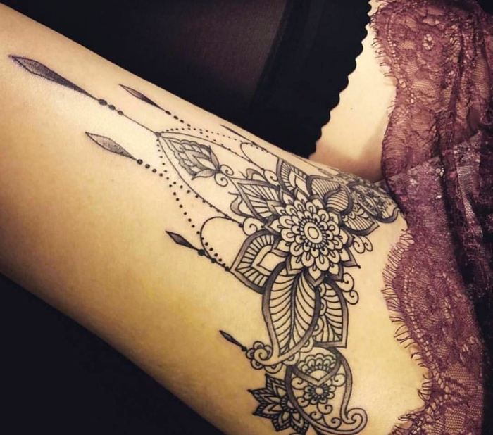 Frau tattoo mandala motive Tattoo Vorlagen