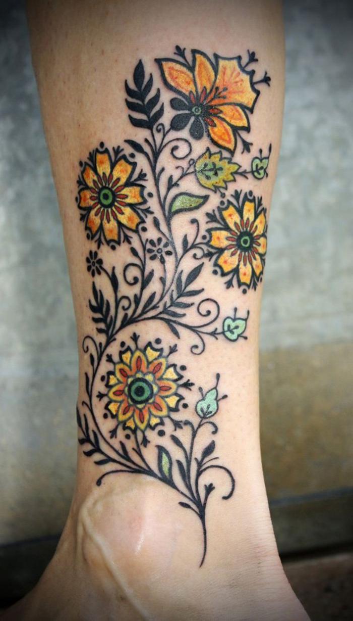 Tattoo vorlagen frauen unterschenkel