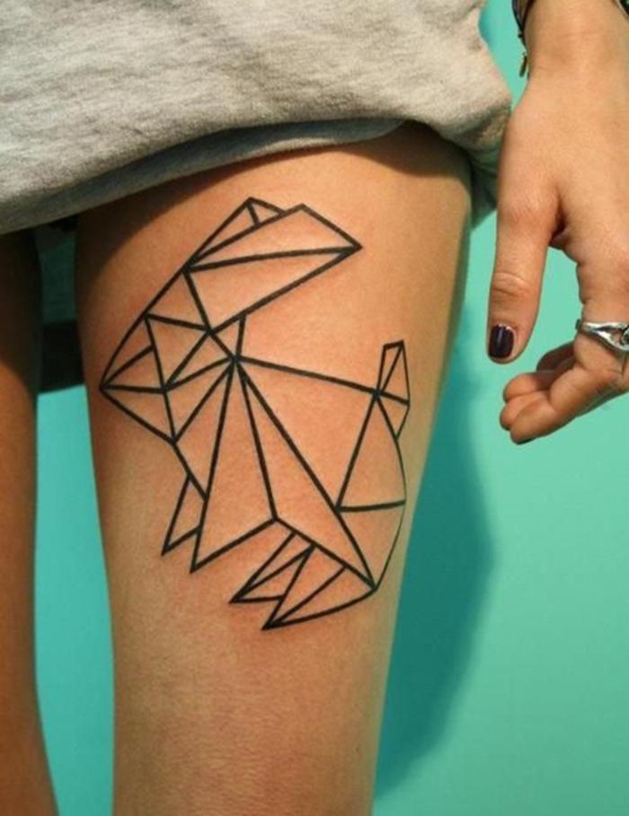 Tattoo mann bein