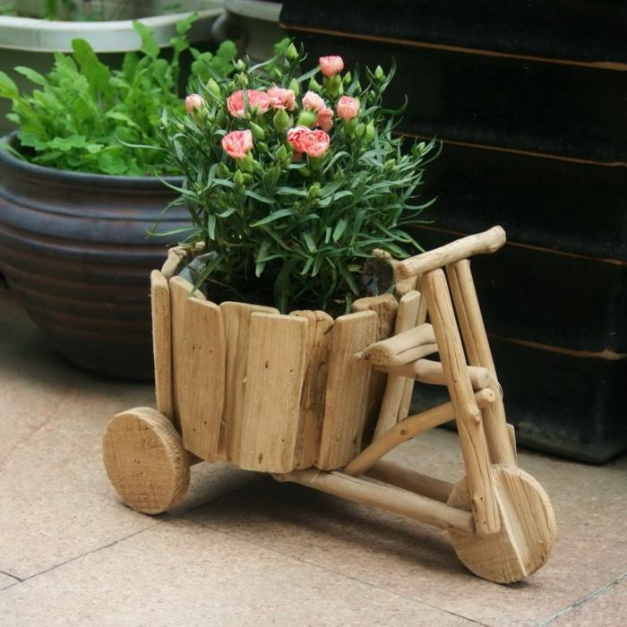 mini blumentöpfe als fahrrad gestalten dekoidee für jede wohnung und jedes haus schöne idee blumen deko