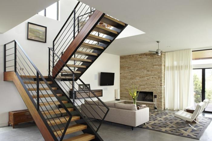 Wohnzimmer unter Treppen Treppenaufgang gestalten, eine Bild mit Landschaft, Schuhschrank
