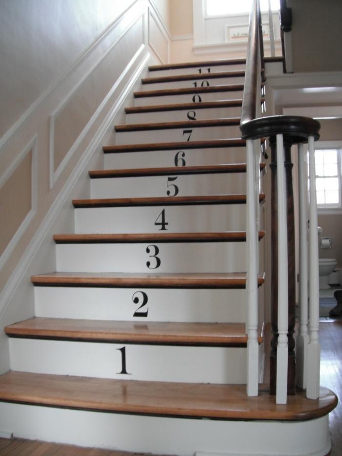 wollen Sie die Treppen zahlen, hier stehen die Zahlen zur Verfügung - Treppenaufgang gestalten