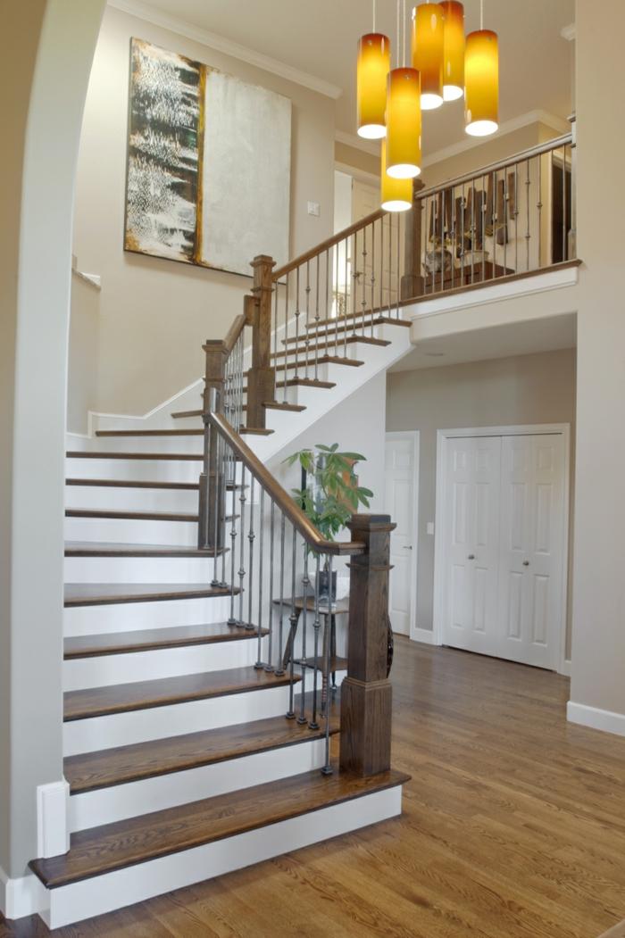 deckenleuchten h ngend treppenhaus. Black Bedroom Furniture Sets. Home Design Ideas