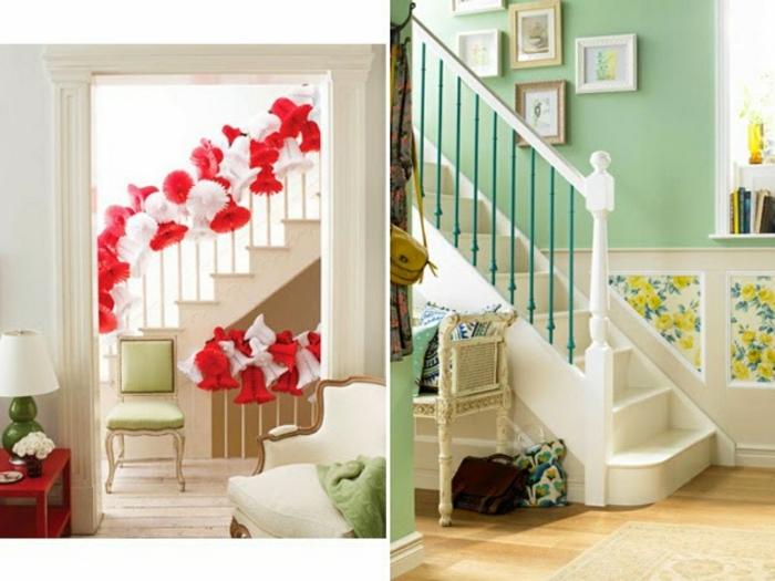 Bilder für Treppenhaus - kreative Ideen zur Verzierung von kleinen Treppen