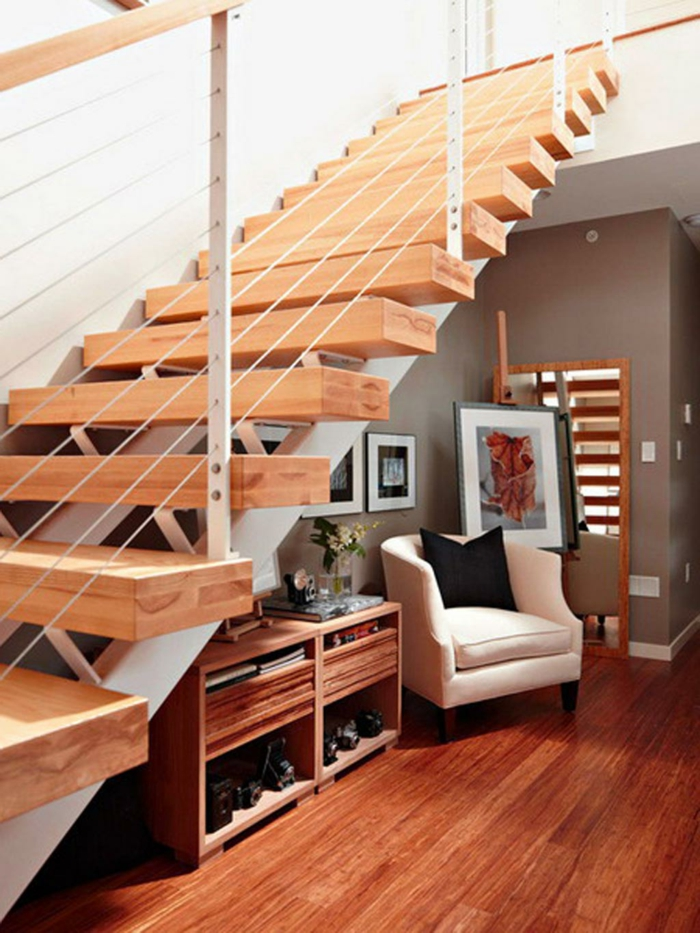 Bilder für Treppenhaus - viele nebeneinander gesetzt graue Wände, Sessel, Schuhschrank