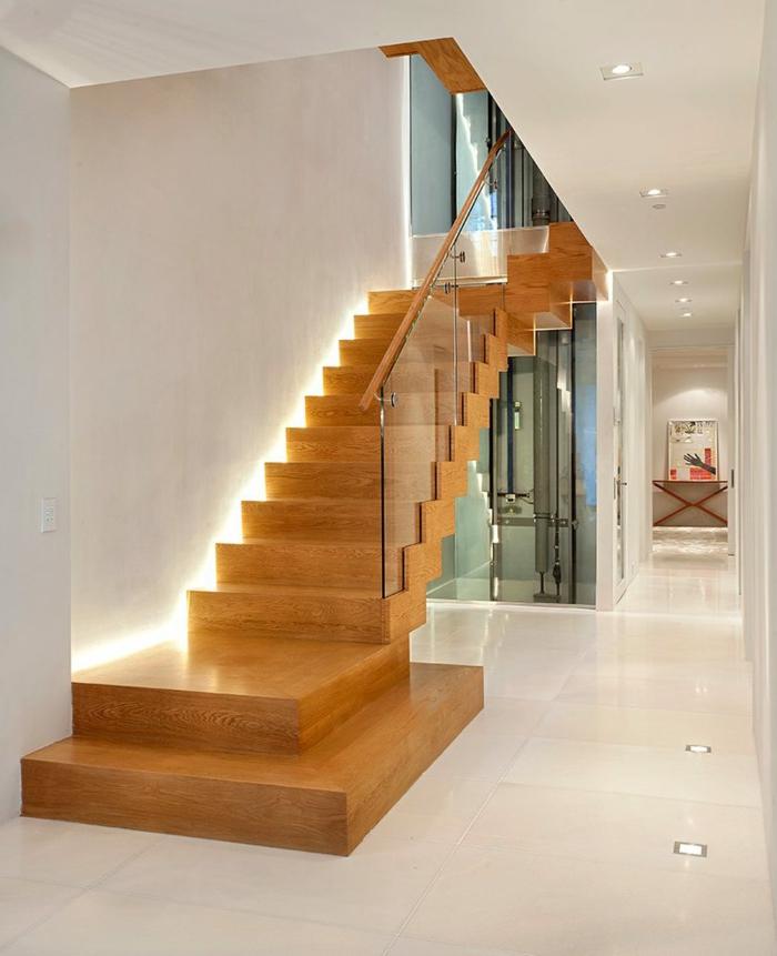 LED Beleuchtung damit man die Treppen auch am Abend heruntergehen kann