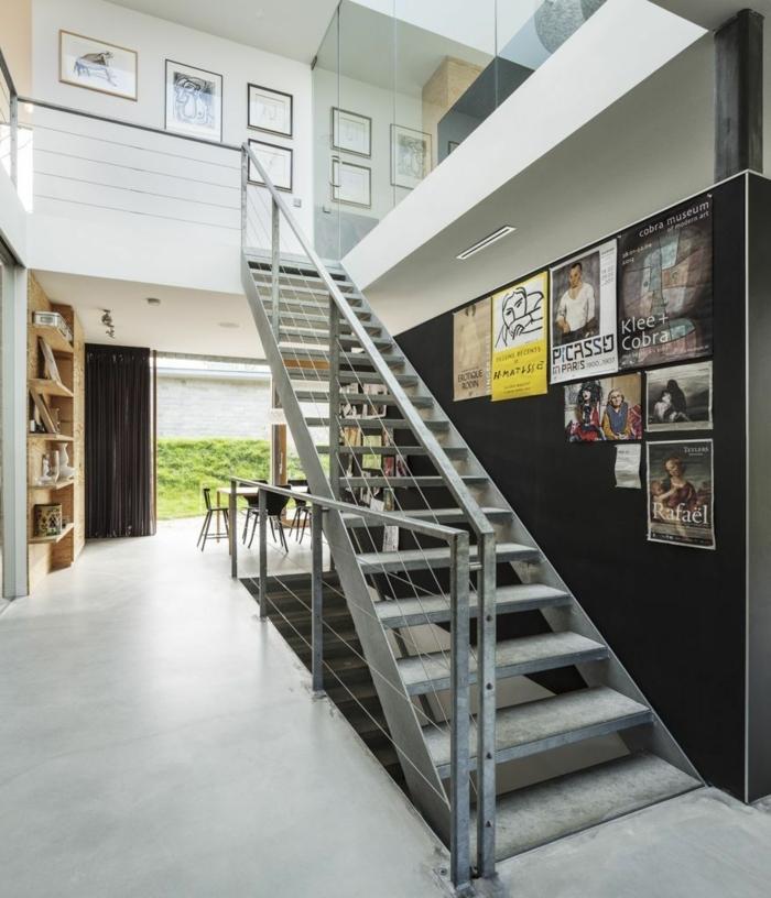 Posters mit Bilder von berühmten Maler - Wandgestaltung Treppenhaus