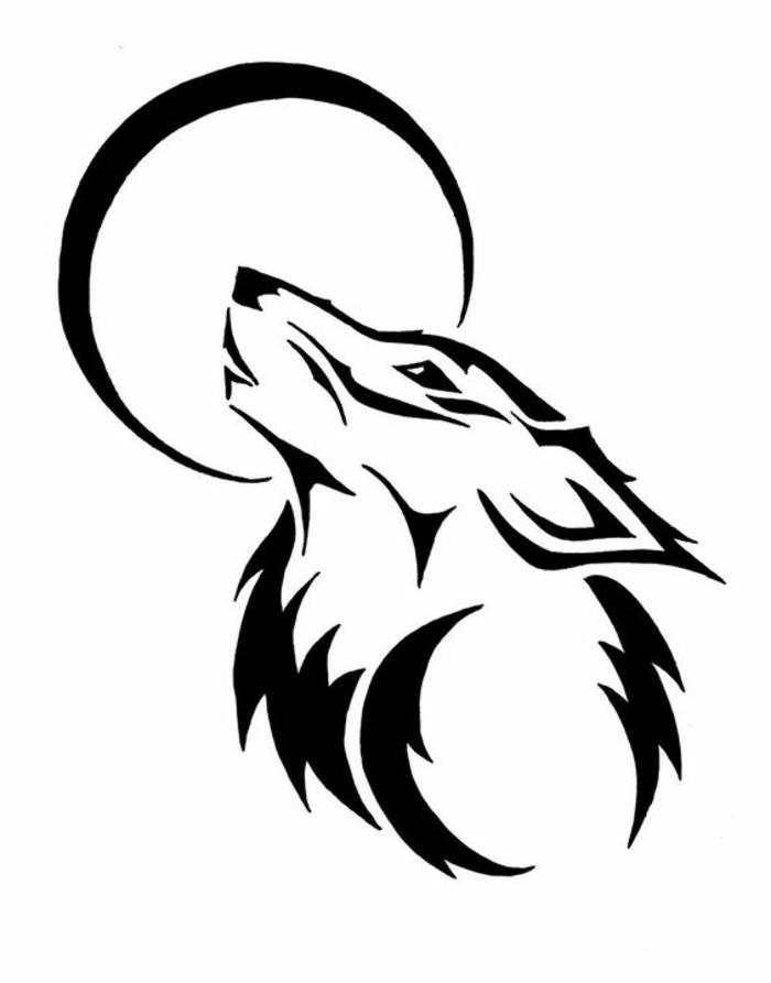 Lineart Wolf Tattoo : Ideen für einen tollen wolf tattoo die ihnen sehr