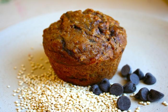 vegetarische gerichte muffins mit quinoa dunkler schokolade schöne form schaffen selber backen