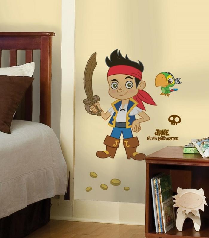 eine moderne Version von Peter Pan, diesmal als Pirat Wanddeko Kinderzimmer