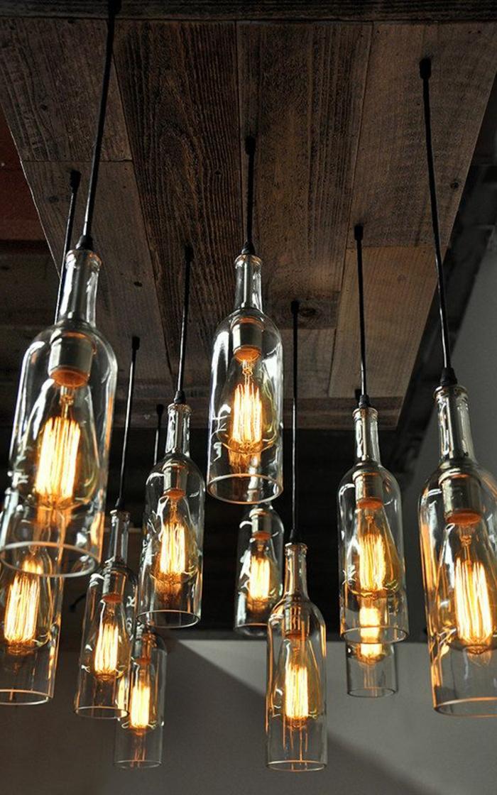 einzigarite dekoration für jedes haus landhaus oder jede wohnung lampen aus alten flaschen gestalten