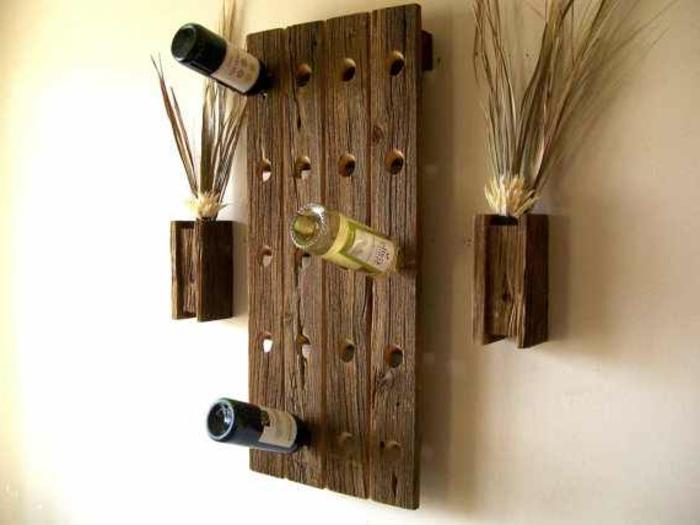 hängender weinregal selber bauen hölzerne dekorative möbel für das zuhause ideen bilder