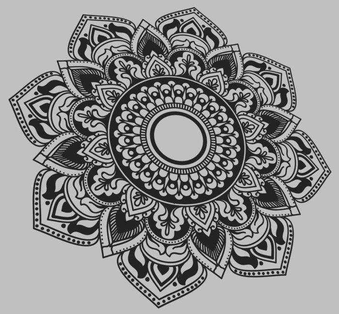 Malblock mit Mandala-Zeichnungen zum Ausmalen, Lotusblume, gespitzte Formen, Punkte