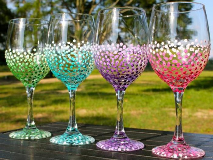 1001 ideen wie sie kreativ weingl ser dekorieren k nnen for Glasdeko garten