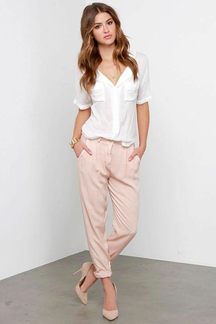schöne jogginghosen damen pink aus seide und seidiges hemd