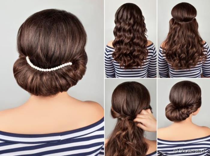 Frisuren Mittellang Hoch Gesteckt Anleitung Mittellange Haare
