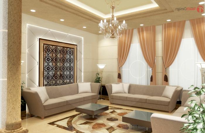 orient möbel luxuseinrichtung in der wohnung klasse stil eleganz dezente helle farben im interieur design