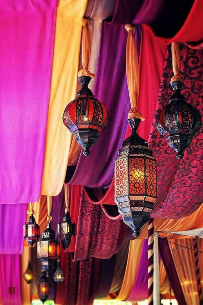 orient möbel deko elemente lampen und laternen schmücken das zuhause schöne wohnung bunte farben