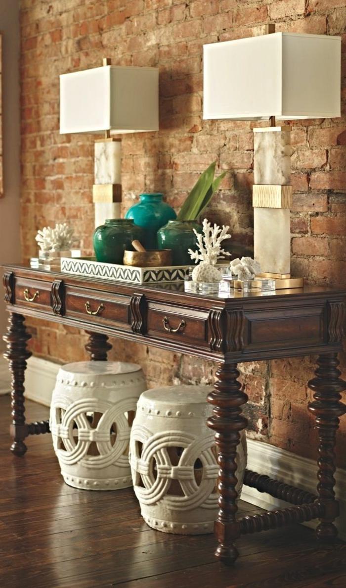 orient möbel dekorationen zum erstaunen weiße hocker aus holz und graviert lampen quadratisch tischdeko türkis